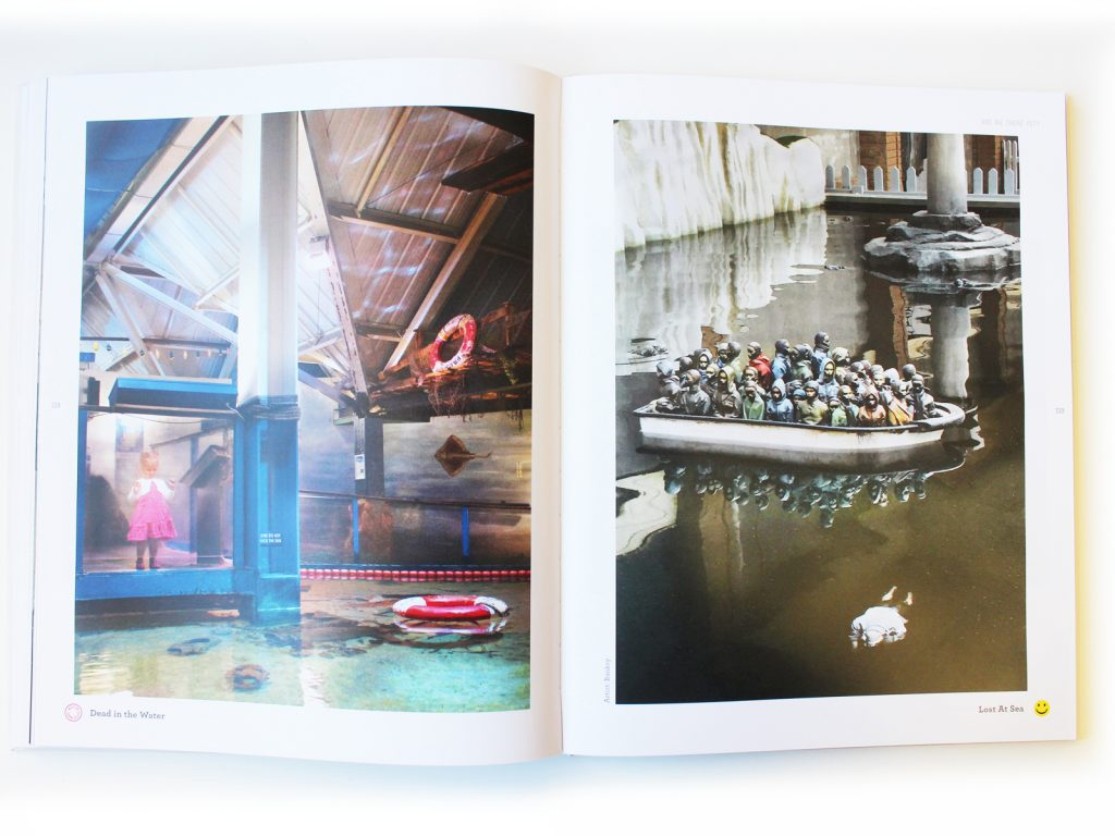 Are We There Yet? Book design, Banksy Dismaland