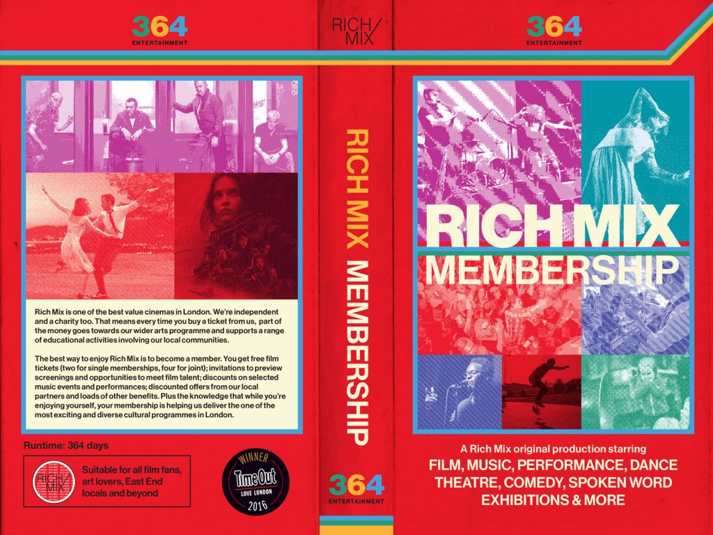 Rich Mix Membership graphic design