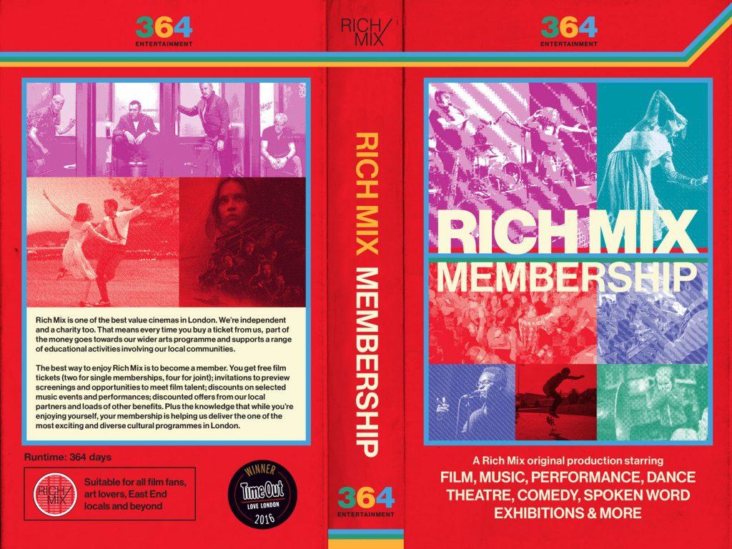 Rich Mix Membership graphic design