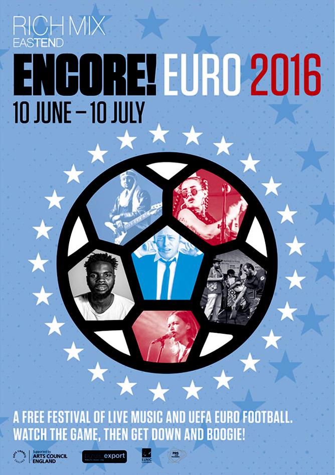 Rich Mix Encore Euro poster design