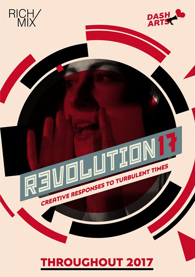 Rich Mix Revolution 17 poster design