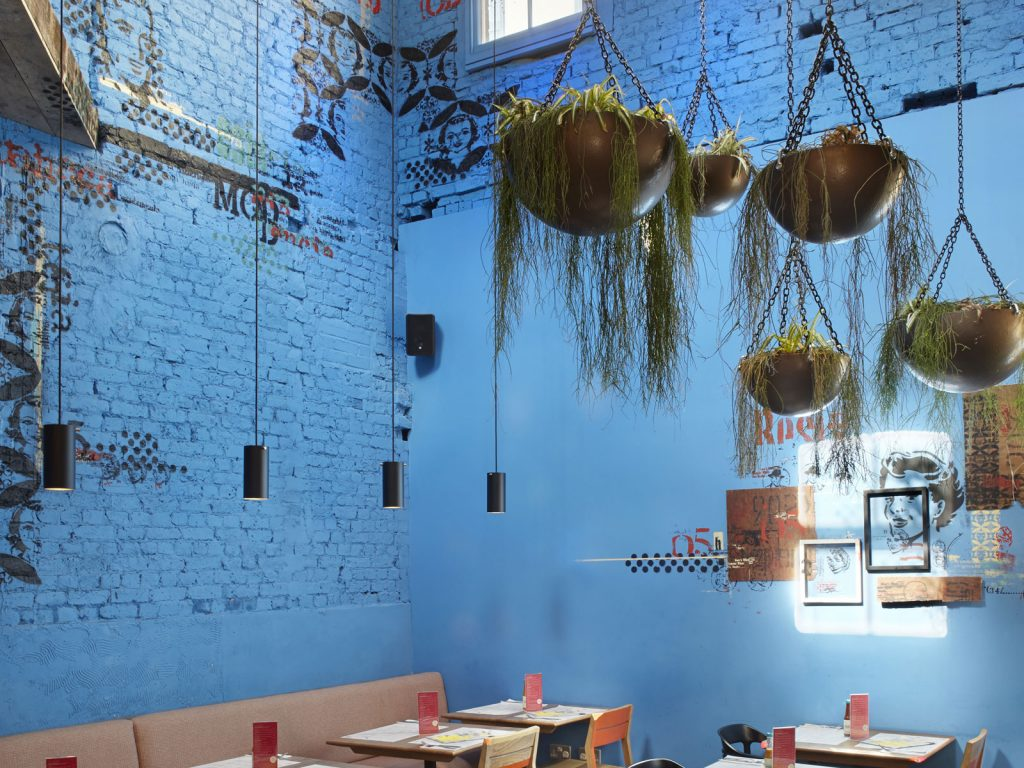 Interior design, Wahaca Islington, art commission