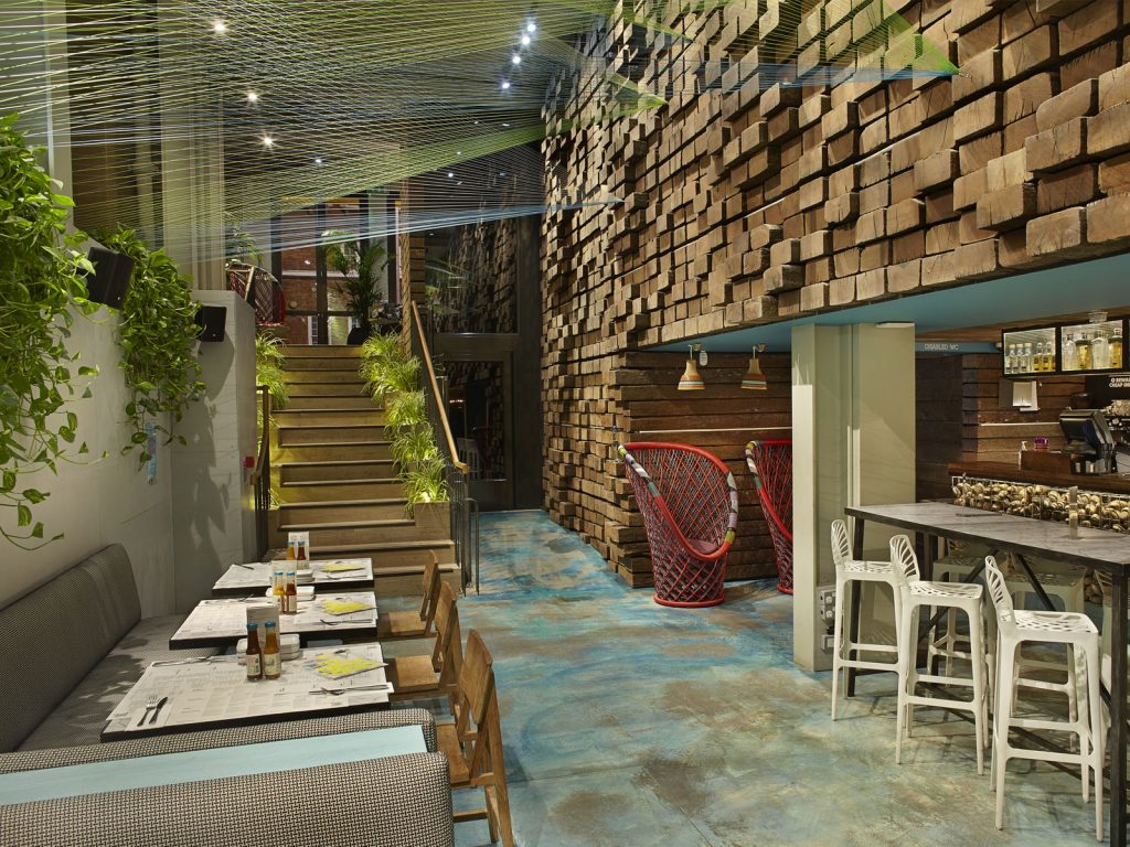 Interior design, Wahaca Waterloo, art commission