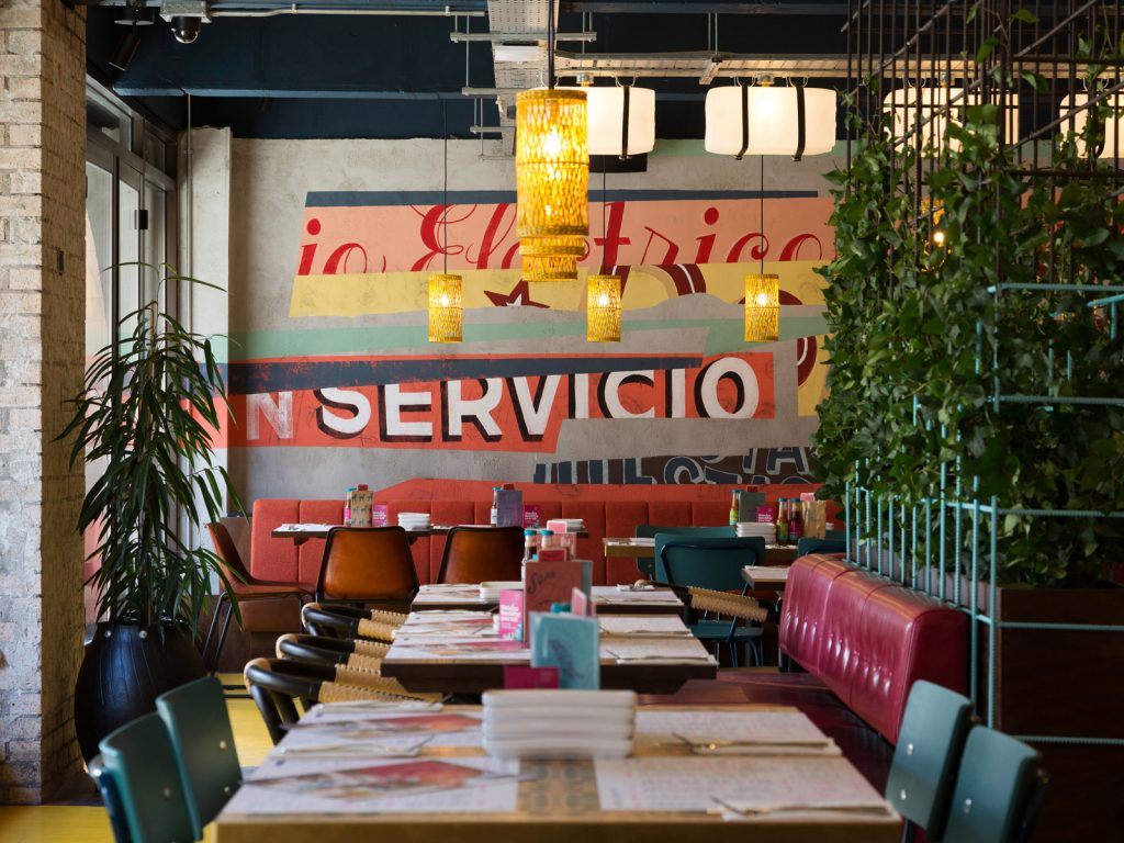 Interior design, Wahaca Edinburgh, mural art commission,
