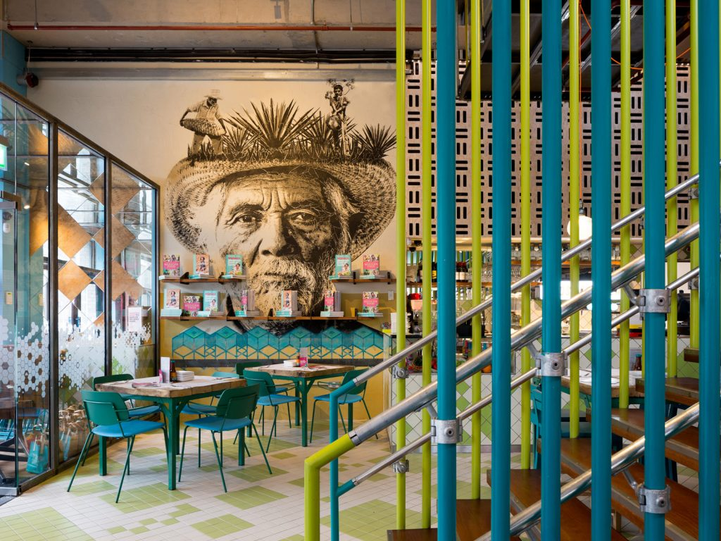 Interior design, Wahaca Liverpool, art commission