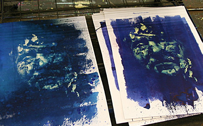 Vhils screenprint