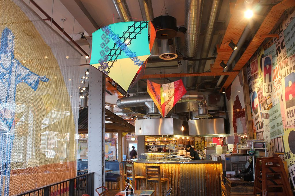 Bespoke Kite lighting for Cabana