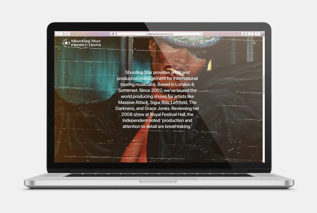 Shooting Stars Website Design 2