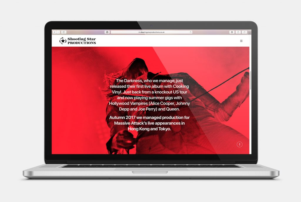 Shooting Stars Website design
