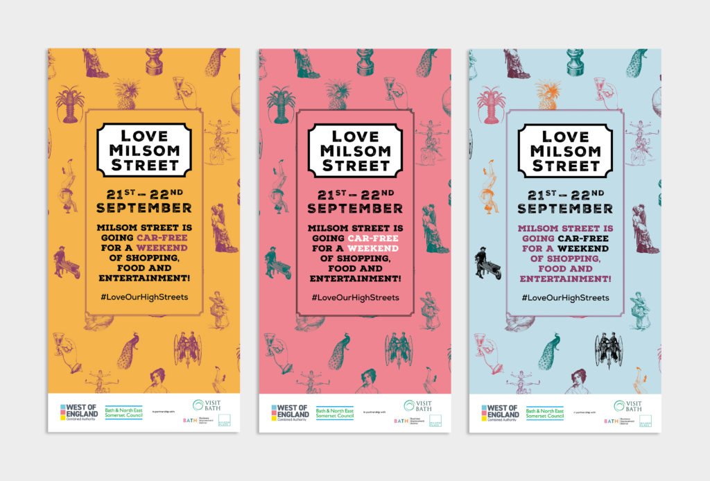 Love Milsom Street Posters